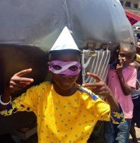 Children join in the festivities.