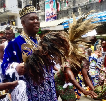 Chief dancing.